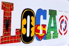 Superhero Hand Painted Wooden Letters-Superman, Spider-Man, The Hulk, Cptn America, Batman, Wolverine, Ironman, Flash, GreenLantern