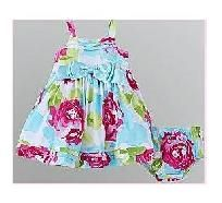SHIPS FREE-2 pcs Cute Infant Girl's Big Bow Floral Dress - size 24months