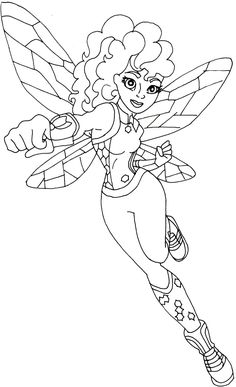 free printable super hero high coloring page for bumblebee below is bigger but its in - Free Girl Coloring Pages