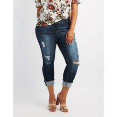 378ee80f01d2f Cello Plus Size Cropped Skinny Jeans