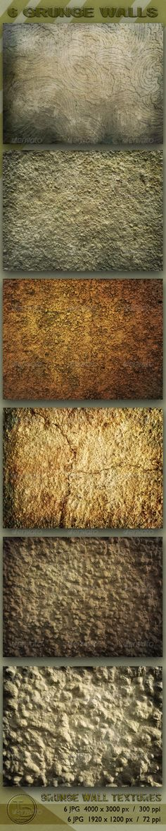 6 Grunge Wall Textures - GraphicRiver Item for Sale