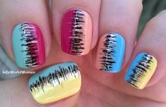 Colorful #striped #summer #nailart - For more #easy ideas please visit my YouTube channel: https://www.youtube.com/user/LifeWorldWomen