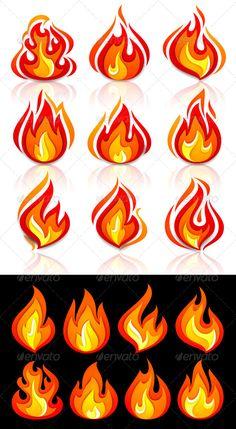 Fire Flames Set