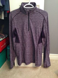 Lululemon Core Half Zip Heathered Deep Zinfandel