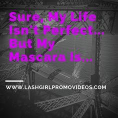 Life Isnt Perfect, But My Mascara Is... :)  #mascara #makeup #life  https://instagram.com/keepcalmandlashon/