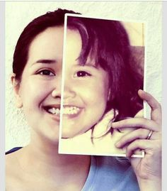 Fun idea take a picture of yourself as a child and hold it up to your face to see the similarities and diferences.