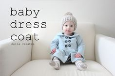This classic baby dress coat is beyond cute. Plus, it's made from a recycled sweater! (Delia Creates)
