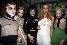 Party Monster Michael Alig (above, far left), infamous '90s New York club kid, convicted killer, and subject of the less-than-lauded 2003 Macaulay Culkin flick Party Monster, was released from prison in May.   Photo: Steve Eichner / Getty Images