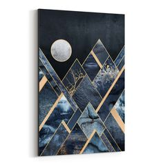 Stormy Mountains Poster in the group Posters & Prints / Graphical at Desenio AB Abstract Nature, Abstract Art, Abstract Landscape, Geometric Artwork, Canvas Wall Art, Wall Art Prints, Big Canvas, Framed Prints, Canvas Prints