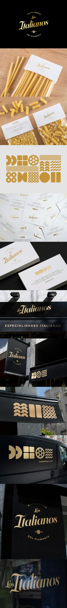 Los Italianos it's pasta for dinner #identity #packaging #branding PD