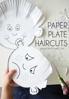 Paper plate haircuts for toddlers and preschoolers!acraftyliving … - Crafts For Toddlers Toddler Preschool, Learning Activities, Preschool Activities, Kids Learning, Time Activities, Physical Activities, Physical Education, Emotions Preschool, Fine Motor Activities For Kids