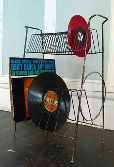 Record racks!  When I was a teenager most everybody had one.