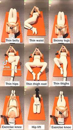 Body Weight Leg Workout, Full Body Gym Workout, Slim Waist Workout, Flat Belly Workout, Butt Workout, Tone Arms Workout, Pilates Workout Routine, Fitness Workouts, Gym Workout Videos