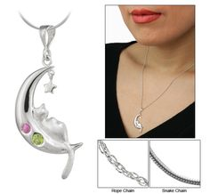 Bolivian Sterling Dreaming Cat Necklace  - Every Purchase Funds Food and Care for Rescued Animals.