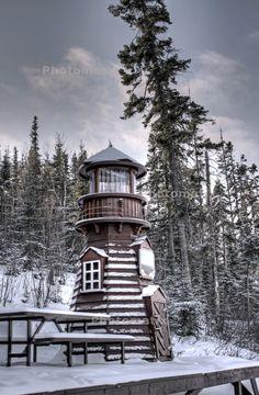 https://flic.kr/p/9aKMVM | phare hdr 1 | Le phare de Lebel-sur-Quévillon, Quebec, Canada © Prince des glaciers et Réal Lavigne