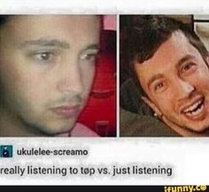 """True. Like I listen to idk Not Today and I'm like """"HEARD YOU SAY NOT TODAY"""" but then I start to think about it and I'm like """"Oh god I need help."""""""