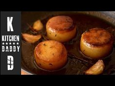 Fondant Potatoes - Crusty Potatoes Roasted with Butter and Stock - Potato Sides, Potato Side Dishes, Potatoe Casserole Recipes, Potato Recipes, Chef Recipes, Grilled Beef Tenderloin, Fondant Potatoes, Buttered Cabbage, Caramelised Apples