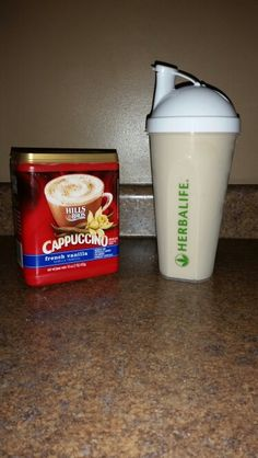 Cappuccino shake 1 scoop instant french vanilla cappuccino 2 scoop french vanilla formula 1 1 cup of milk 1 cup ice Blend all together and enjoy frozen cappuccino! !!