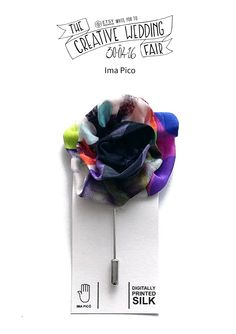 Ima Pico - The Creative Wedding Fair by Etsy Manchester - Silk Wedding Brooch