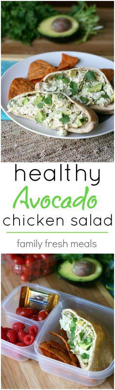 Healthy Avocado Chicken Salad Recipe - If you love chicken salad and avocados, then you are going to go ga-ga for this recipe!