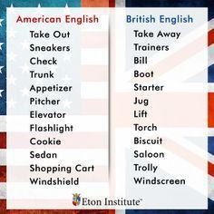 british vs american slang - Google Search