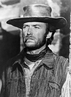 Clint's image as a man's man was set during the spaghetti Western movies. Love this particular photo.