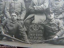 German Soldiers,Inf.Regt. No.125 (See Shoulder Tabs)-Great Iron Cross Sign-ORIG.