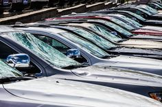 In Monett town in USA, cars were damaged by the hail of hail storm.