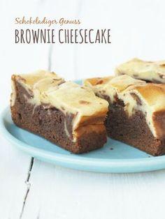 Schokoladiges Brownie-Cheesecake Rezept | Zeit: 30 Min. | http://eatsmarter.de/rezepte/brownie-kaesekuchen