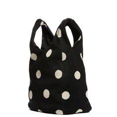 Polka dot shopper bag - bags - selected