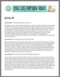 PDF 2016 LDS Primary Talks!