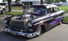 Visit The MACHINE Shop Café... ❤ Best of Chevy @ MACHINE ❤ (1955 Chevy Bel Air Pro Street)
