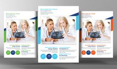 Medical Health Flyer Template by Business Templates on @creativemarket