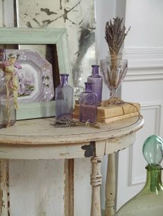 Chateau Chic: Lavender and Green  Love this -- most of these things I already collect!