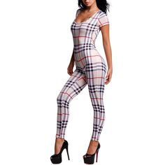 Rompers Womens Jumpsuit 2016 Elegant Woman Sexy Long Pants Jumpsuit Summer Short Sleeve Striped Club Party Overalls Playsuits  #CUTE #womenfashion