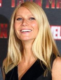 Gwyneth Paltrow For frizz-free texture like Gwyneth Paltrow's, mist a fine tooth comb with hairspray and smooth over roots