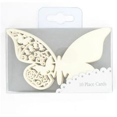 Talking Tables Butterfly Place Cards Ivory Pk10
