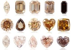 The Orangy Brown, or Orange Brown diamonds have such a striking resemblance to the golden shade that this combination of colors actually adopted the Golden Diamond name. Description from leibish.com. I searched for this on bing.com/images