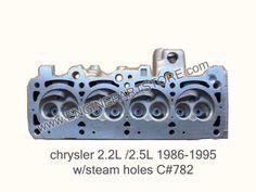 86-95 Dodge/ Chrysler 2.2/2.5 cylinder head.  Casting # 782 with steam holes.  Fits: Dakota, Minivan and Caravan.  Reinforced providing higher mechanical performance.