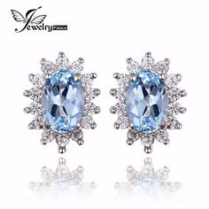 JewelryPalace Natural Topza Gemstone Earrings Stud Genuine 925 Sterling Silver Jewelry Charm Gift For Girls Brand New Jewelry (32347371892)  SEE MORE  #SuperDeals