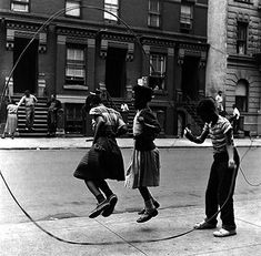 Double dutch jump rope    My sisters and I used to do this with all the kids in the neighborhood.