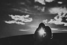 sunlight silhouette of couple