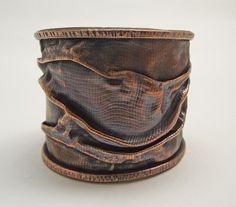 Eclectic Copper Cuff Bracelet. $85.00, via Etsy.