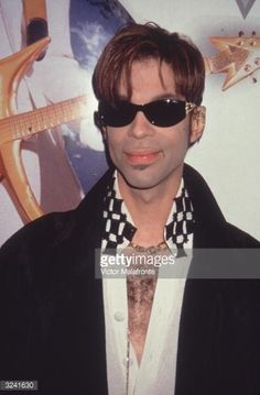 American musician and singer Prince (Prince Roger Nelson) wears sunglasses indoors, New York City. Princes Fashion, The Artist Prince, Photos Of Prince, Prince Images, Legendary Singers, Paisley Park, Evolution Of Fashion, Donatella Versace, Roger Nelson