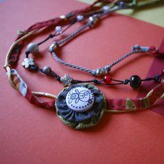 Una de mis piezas favoritas, collar Granny  Patch, me encanta!!!