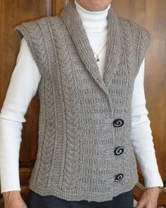 Eco Vest - this is a more structured variation of Katie Himmelberg's pattern