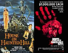 Classic horror movie posters compared to their modern day remakes Photos) Horror Movie Posters, Movie Poster Art, Film Posters, House On Haunted Hill, Scary Films, Vincent Price, Classic Horror Movies, Make It Through, The Originals