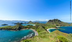 Padar Island Flores Indonesia - Mountain top view [22481334][OC]