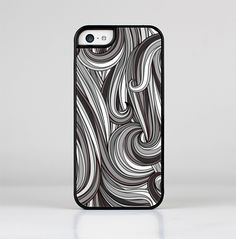 The Black & Gray Monochrome Pattern Skin-Sert for the Apple iPhone 5c Skin-Sert Case
