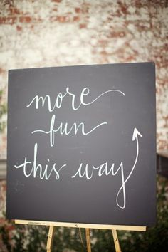 Loving this chalkboard sign